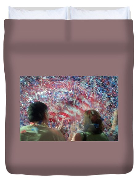 July Fourth Finale Duvet Cover