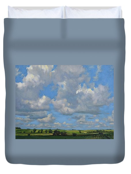 July In The Valley Duvet Cover