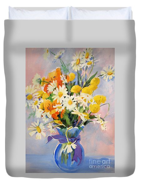 July Summer Arrangement  Duvet Cover by Kathy Braud