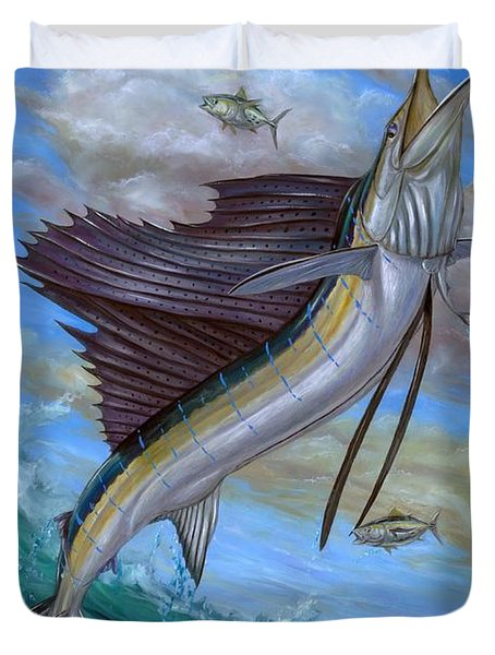 Jumping Sailfish Duvet Cover