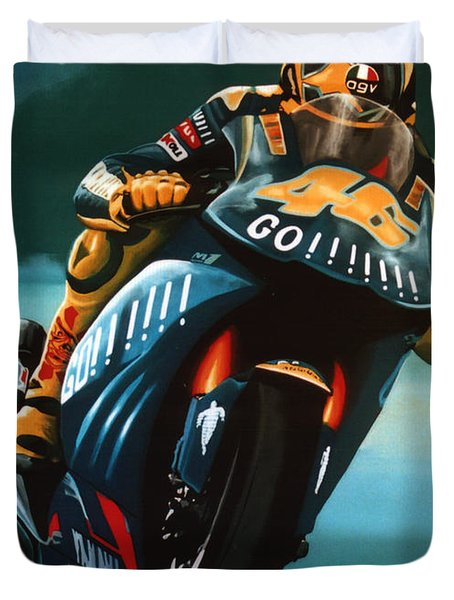 Jumping Valentino Rossi  Duvet Cover