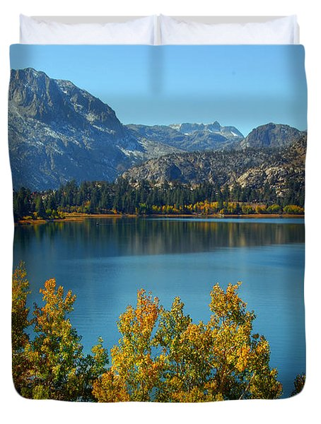 Duvet Cover featuring the photograph June Lake Blues And Golds by Lynn Bauer