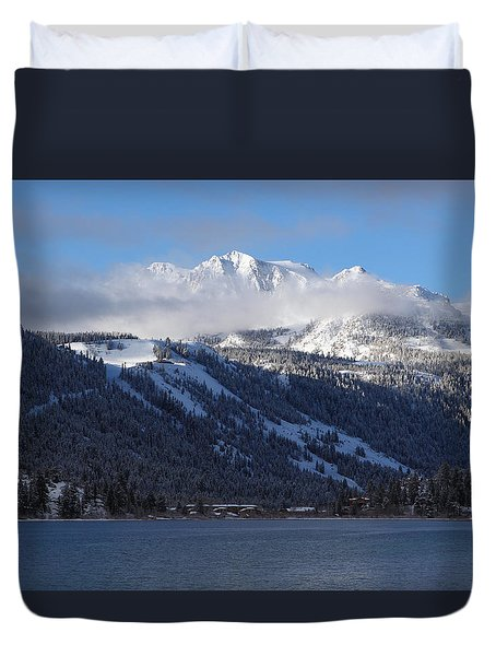 June Lake Winter Duvet Cover