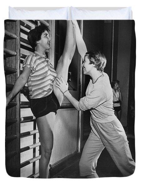June Taylor Stretches Dancer Duvet Cover