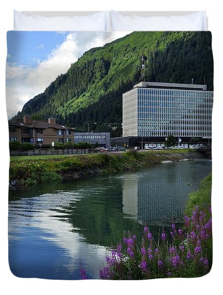 Juneau Federal Building Duvet Cover by Cathy Mahnke
