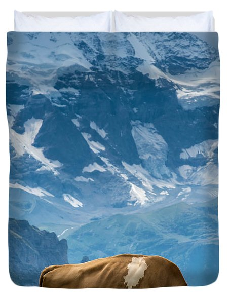 Jungfrau Cow - Grindelwald - Switzerland Duvet Cover