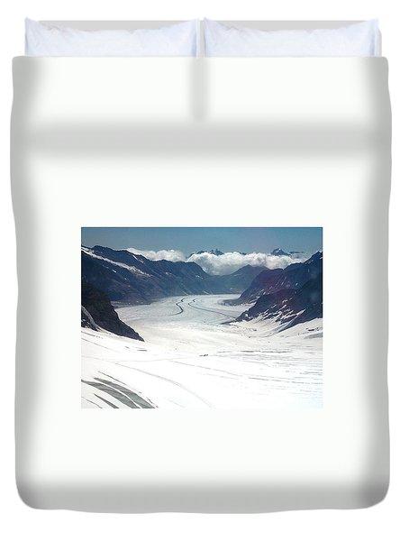 Jungfrau Glacier Duvet Cover