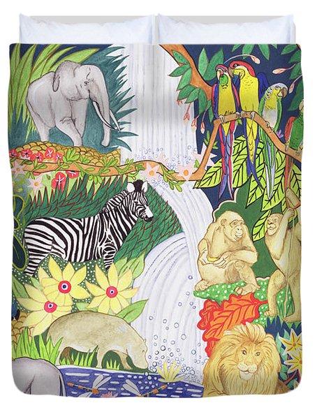 Jungle Animals Wc Duvet Cover
