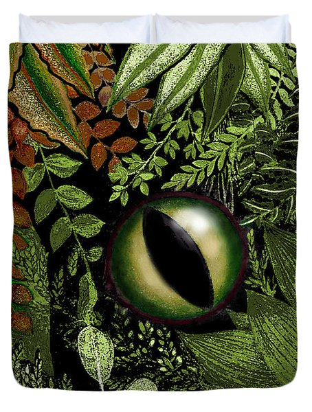 Jungle Eye Duvet Cover by Carol Jacobs