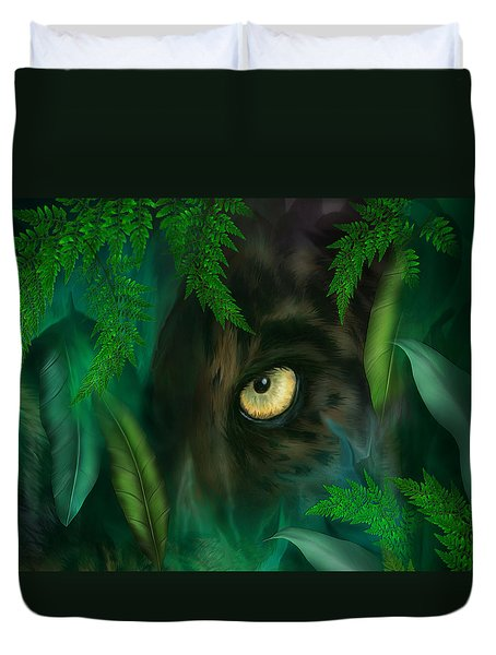 Jungle Eyes - Panther Duvet Cover