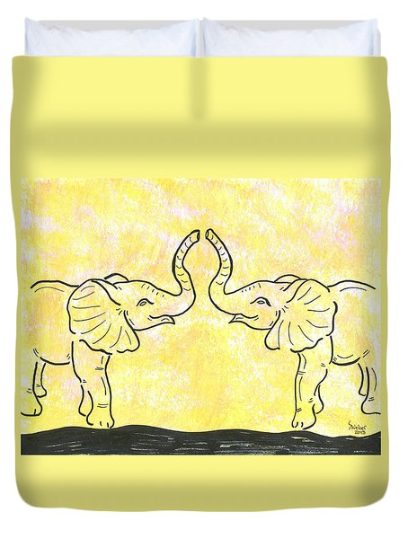 Jungle Love Duvet Cover by Susie WEBER