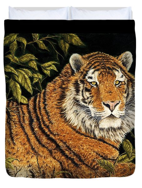 Jungle Monarch Duvet Cover by Rick Bainbridge