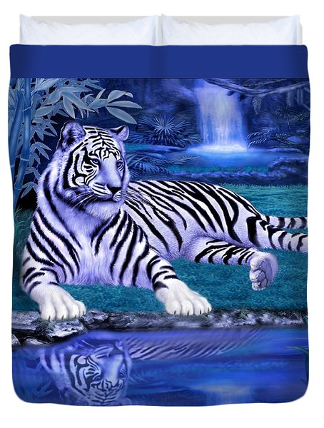 Jungle Tiger Duvet Cover by Glenn Holbrook