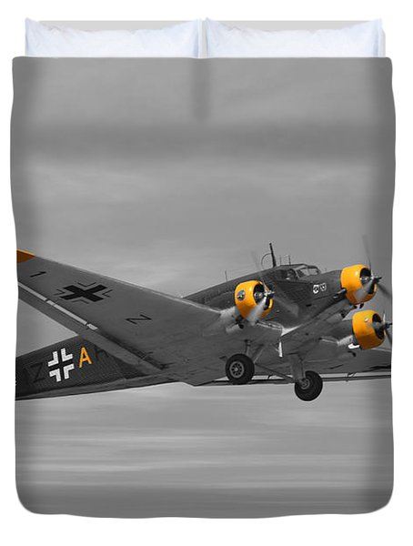 Junkers Ju 52 Duvet Cover by Tommy Anderson