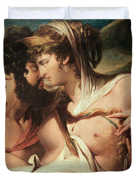 Jupiter And Juno On Mount Ida Duvet Cover by James Barry