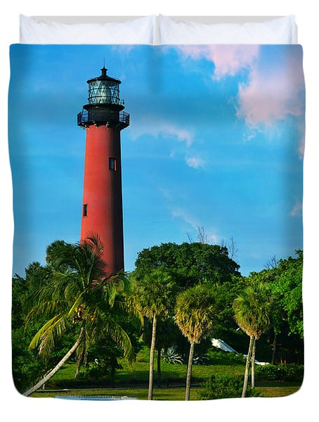 Jupiter Florida Lighthouse Duvet Cover