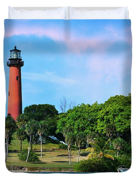 Jupiter Lighthouse Duvet Cover