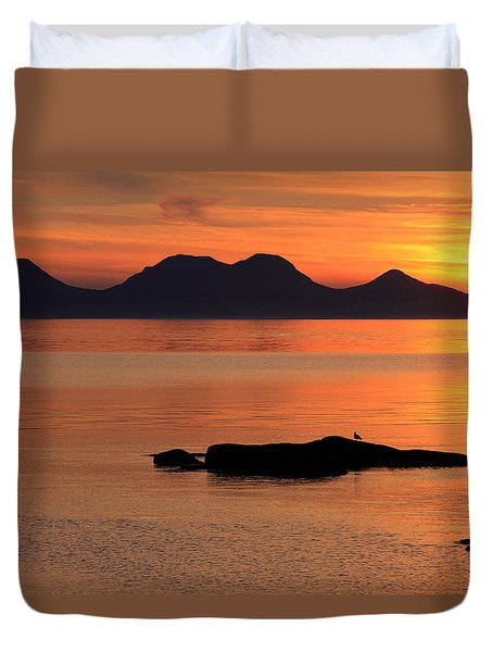 Jura Sunset Duvet Cover