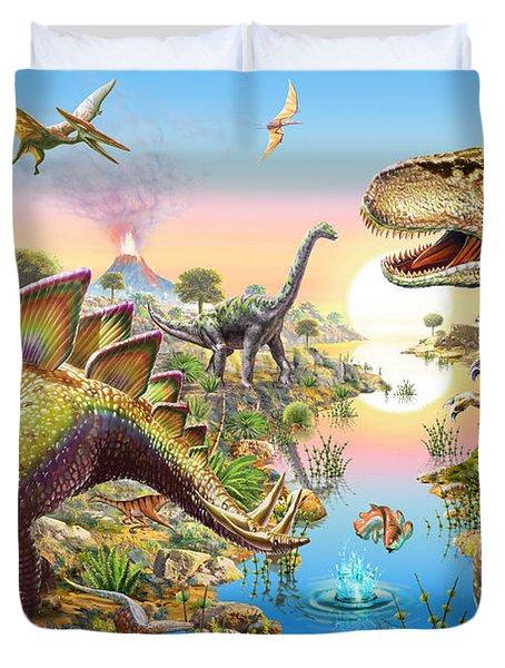 Jurassic River Duvet Cover