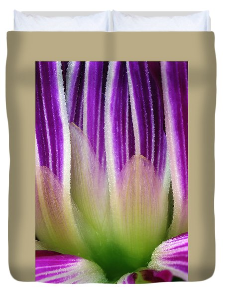 Duvet Cover featuring the photograph Just A Dahlia 1 by Wendy Wilton