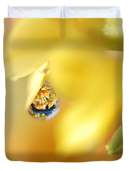 Just A Drop Of Spring Duvet Cover by Susan Capuano