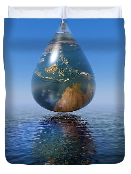 Just A Drop Duvet Cover by Shadowlea Is