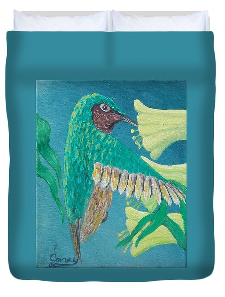 Just A Hummingbird Duvet Cover