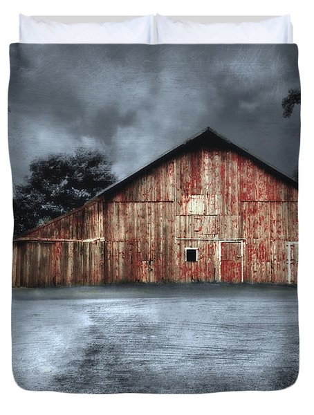Night Time Barn Duvet Cover