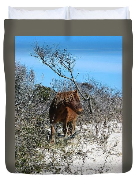 Just Another Day At The Beach Duvet Cover by Photographic Arts And Design Studio