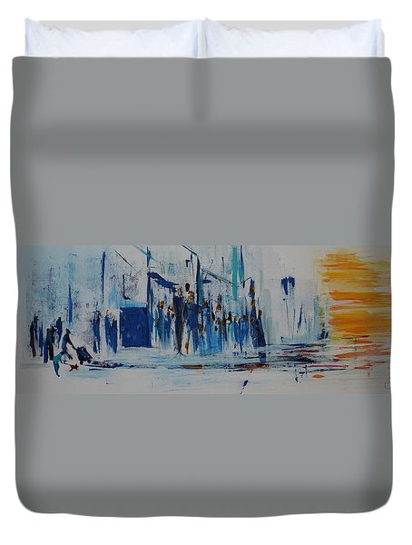 Just Another Day In New York City Duvet Cover