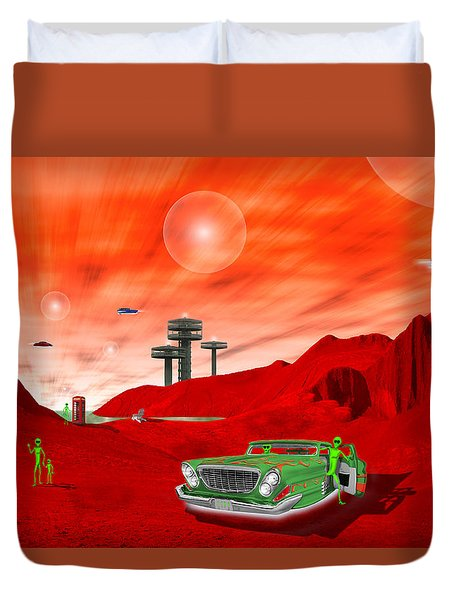 Just Another Day On The Red Planet 2 Duvet Cover by Mike McGlothlen