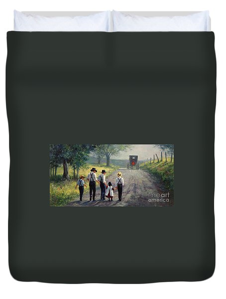 Just Around The Bend Duvet Cover