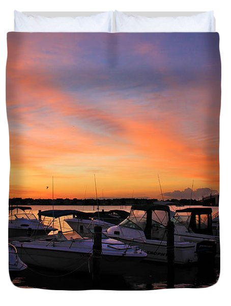 Just Before Dawn Duvet Cover by Roger Becker
