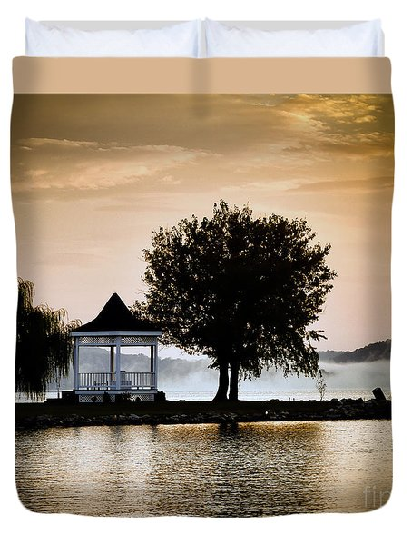 Just Before Sunrise Duvet Cover by Kerri Farley