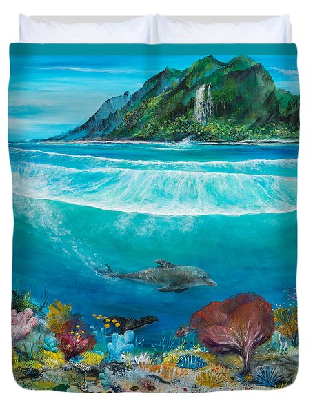 Just Below The Surface Duvet Cover by John Garland  Tyson