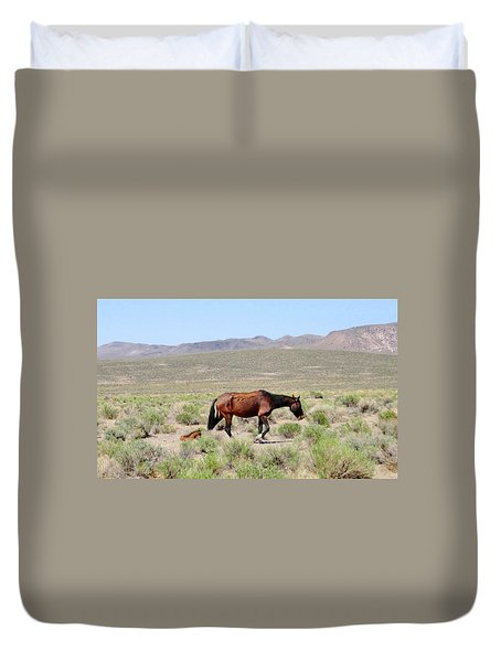 Duvet Cover featuring the photograph Just Born by Marilyn Diaz