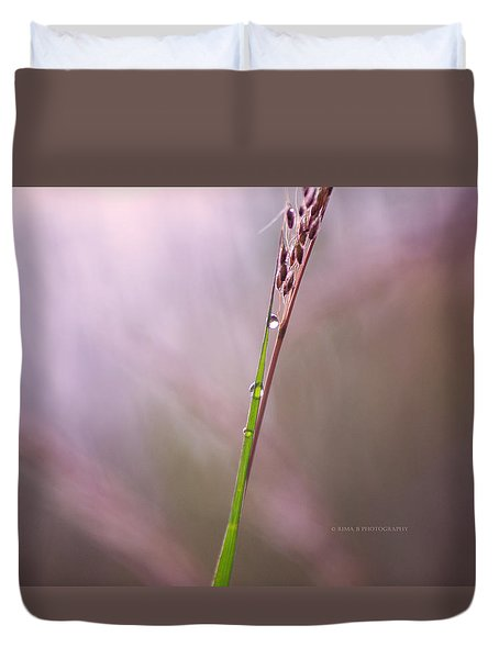 Duvet Cover featuring the photograph Just Few Drops by Rima Biswas