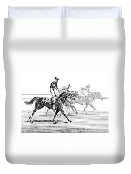 Just Finished - Horse Racing Print Duvet Cover
