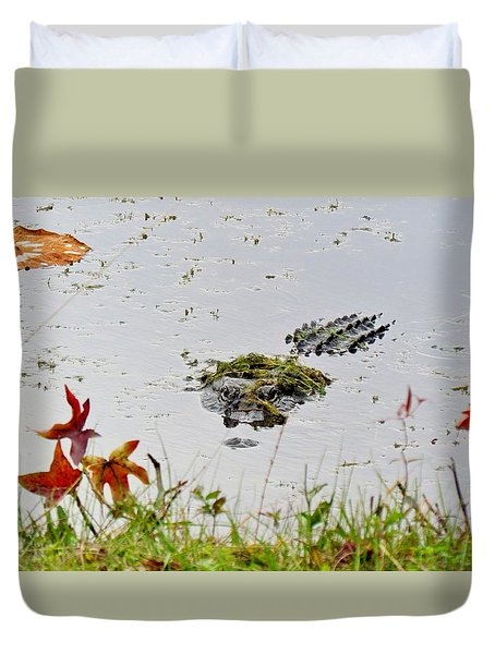 Duvet Cover featuring the photograph Just Hanging Out by Cynthia Guinn