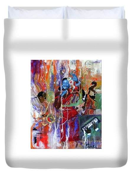 Just Jazzin Duvet Cover