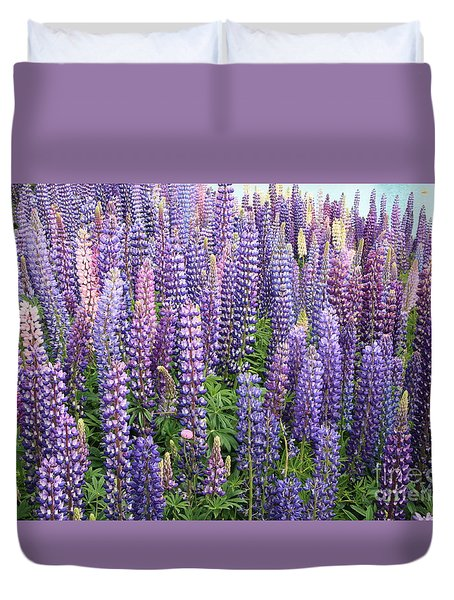 Just Lupins Duvet Cover by Nareeta Martin