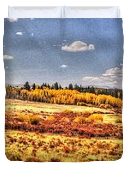 Just North Of Fairplay Colorado Duvet Cover