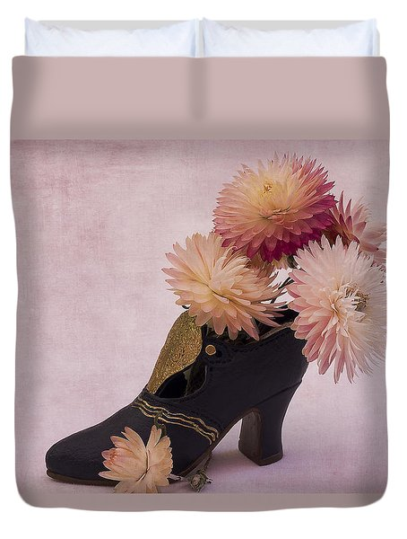 Duvet Cover featuring the photograph Just One Shoe by Sandra Foster