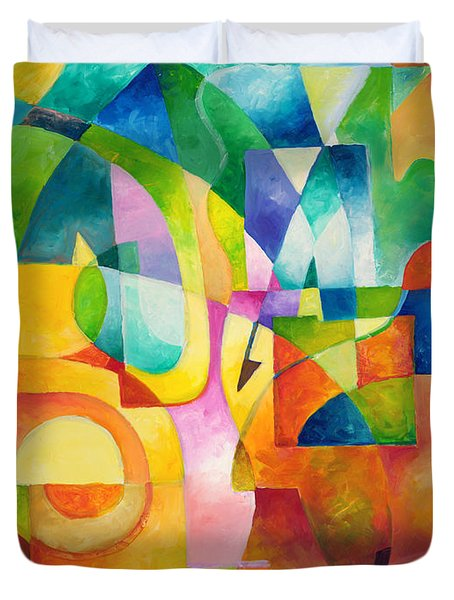 Just Outside Duvet Cover by Sally Trace