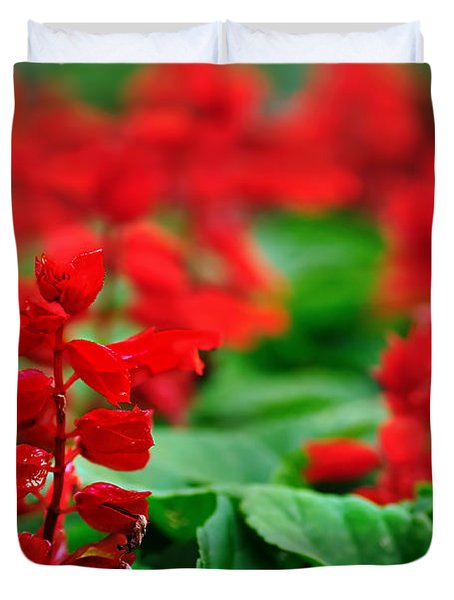 Just Red Duvet Cover by Kaye Menner