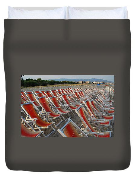 Duvet Cover featuring the photograph Just Relax At The Shore by Caroline Stella