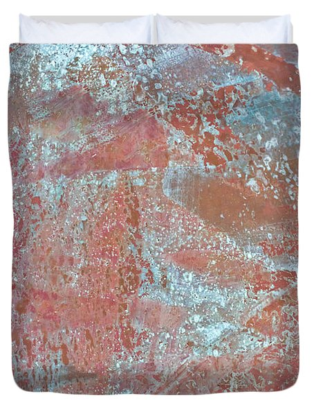 Duvet Cover featuring the photograph Just Rust by Heidi Smith