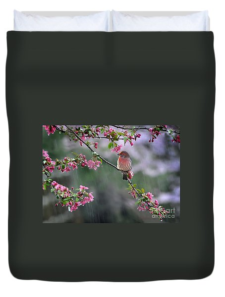 Duvet Cover featuring the photograph Just Singing In The Rain by Nava Thompson