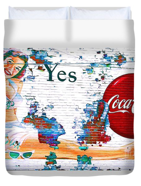 Just Sitting By The Side Of The Road - Digital Art Duvet Cover