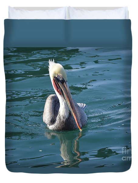 Duvet Cover featuring the photograph Just Wading by Laurie Lundquist